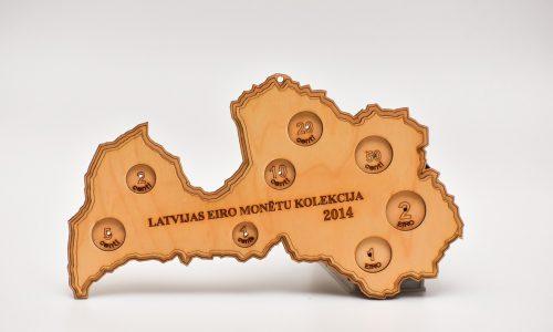 Latvijas eiro monētu kolekcija