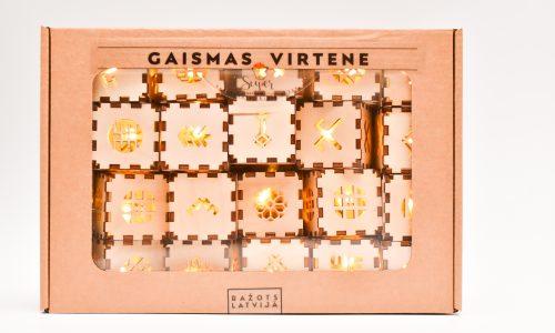 LED virtene ar latvju zīmēm